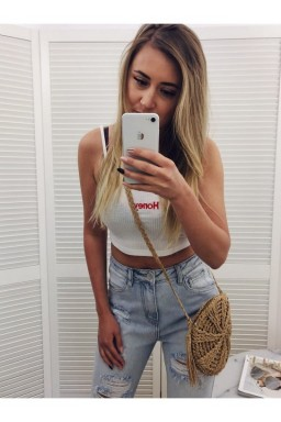 CROP TOP HONEY Biały