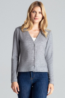 Sweter Damski Model M683 Grey - Figl