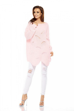 Sweter Damski Model LS209 Powder Pink - Lemoniade
