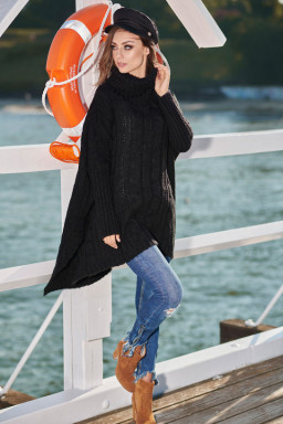 Sweter Damski Model LS215 Black - Lemoniade
