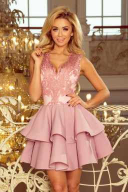 Sukienka Model Charlotte 200-5 Powder Pink - Numoco