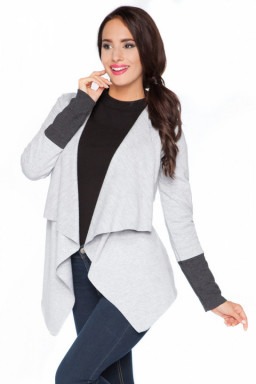 Bluza Damska Model D6 Light Grey/Dark Grey - RaWear