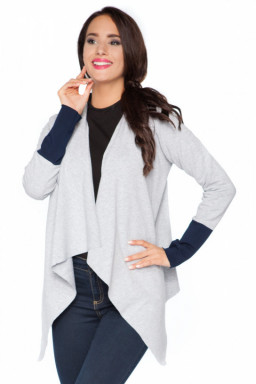 Bluza Damska Model D4 Light Grey/Navy - RaWear