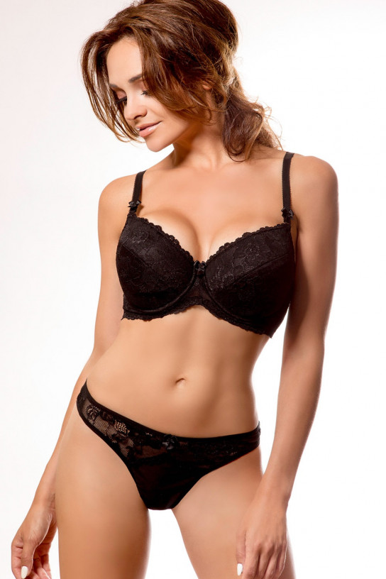 Biustonosz push up Biustonosz push-up PENTI Black - PariPari Lingerie
