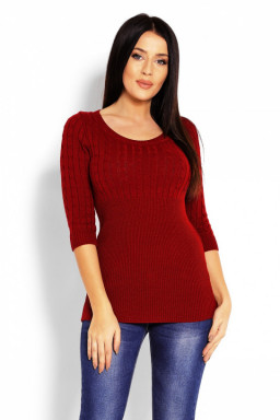 Sweter Damski Model 70008 Bordo - PeeKaBoo