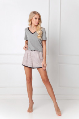 Piżama Gwen Short Dark Grey