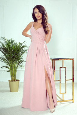 Sukienka Model Chiara 299-2 Powder Pink - Numoco