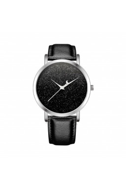ZEGAREK MOON BLACK BROKAT Z629