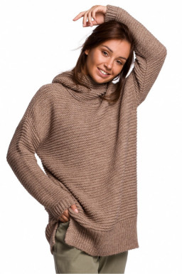 Sweter Damski Model BK047 Cappuccino - BE Knit