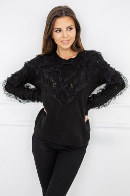 Sweter Nicola Lace Black...