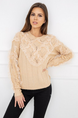 Sweter Nicola Lace Carmel...