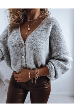 SWETER  GREY GOLD BUTTON