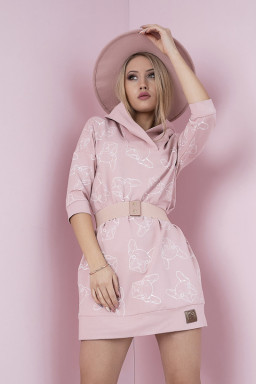 Tunika Model 104-22 Dirty Pink - Bicotone