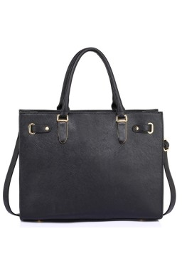 Czarna torba shopper bag Alexandria