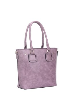 Duża torba shopper bag fioletowa A4 Rivera
